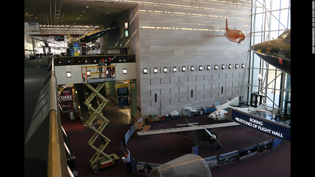 "<a href=""http://blog.nasm.si.edu/behind-the-scenes/wonder-womans-invisible-jet/"" target=""_blank"">The Smithsonian's National Air and Space Museum</a> moved the Spirit of St. Louis and SpaceShipOne to display Wonder Woman's invisible plane in the museum's Boeing Milestones of Flight Hall."