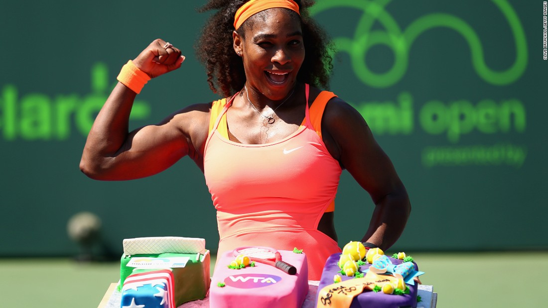 U.S. tennis star Serena Williams has won 19 grand slams and is now the eighth female player to win 700 career matches.