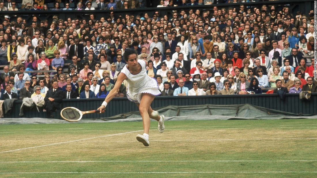 The only British woman to have won titles at all four Grand Slam tournaments, Virginia Wade won 839 matches in a career spanning more than 20 years.