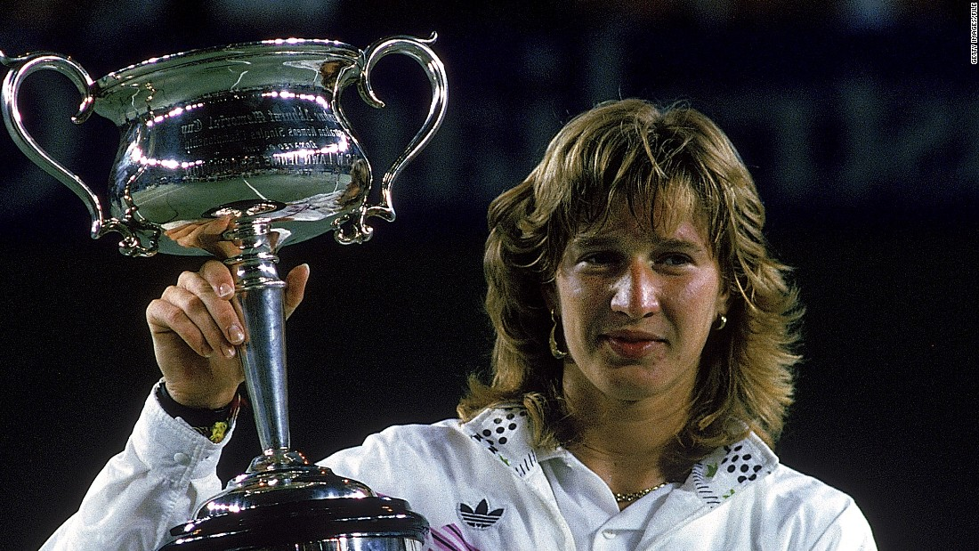 In third place, 22-time grand slam victor Steffi Graf of Germany won 902 matches -- 32 more than her husband Andre Agassi.