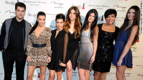 LAS VEGAS, NV - DECEMBER 15:  (L-R) Television personalities Robert Kardashian Jr., Kim Kardashian, Kourtney Kardashian, Khloe Kardashian, Kylie Jenner, Kris Jenner and Kendall Jenner arrive at the grand opening of the Kardashian Khaos store at The Mirage Hotel & Casino December 15, 2011 in Las Vegas, Nevada.  (Photo by Ethan Miller/Getty Images)