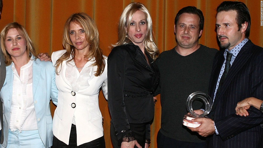 The Arquette siblings could have their own basketball team, but acting is their forte. From left are Academy Award winner Patricia, Rosanna, Alexis, Richmond and David Arquette.