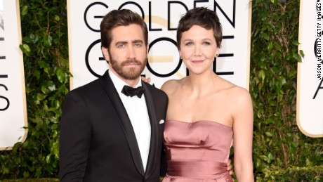 BEVERLY HILLS, CA - JANUARY 11: Actors Jake Gyllenhaal and Maggie Gyllenhaal attend the 72nd Annual Golden Globe Awards at The Beverly Hilton Hotel on January 11, 2015 in Beverly Hills, California.  (Photo by Jason Merritt/Getty Images)