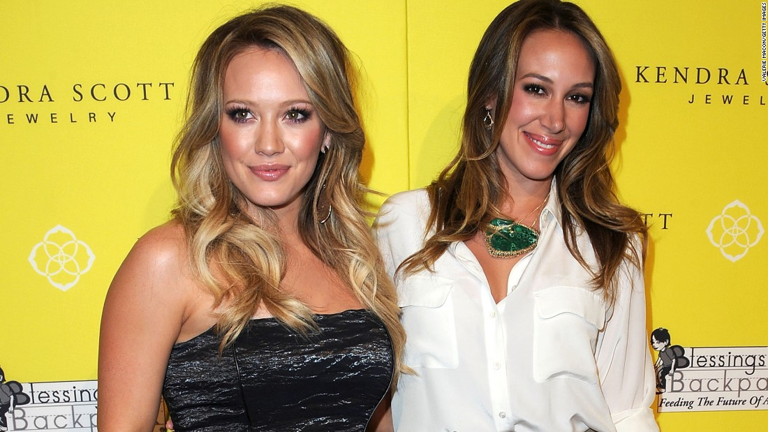 "Actress Hilary Duff, left, was a Disney standout with her role on ""Lizzie McGuire."" Her sister Haylie appeared in ""Napoleon Dynamite"" and other big-screen roles."