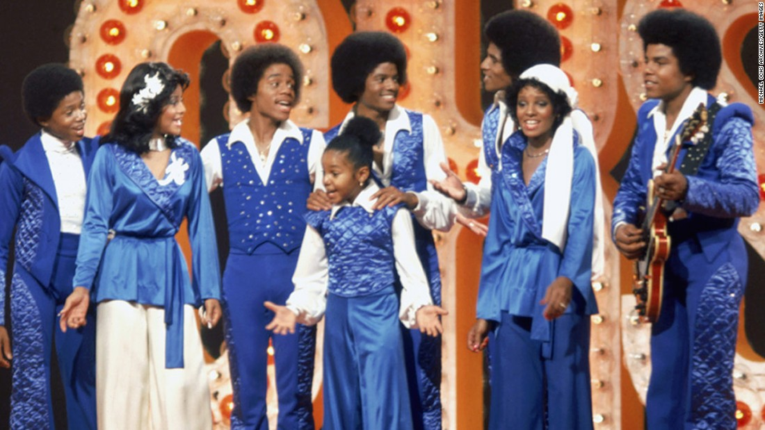 The granddaddy of them all: The The Jackson family includes, from left, Randy, La Toya, Marlon, Janet, Michael, Jackie, Rebbie and Tito. Former members of the Jackson 5 continue to perform. Little Janet has gone on to achieve success onscreen and on the music charts.