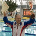 Mieko Nagaoka, 100-year old swimming record holder 2