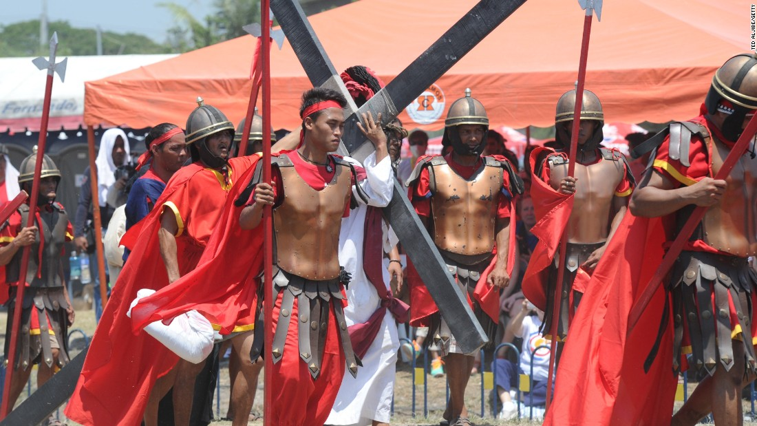 Each year, a small number of worshipers in the fervently Catholic Philippines mark Good Friday by being nailed to crosses and whipping their backs bloody, in extreme acts of devotion that attract thousands of spectators.