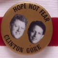 1992- clinton gore button
