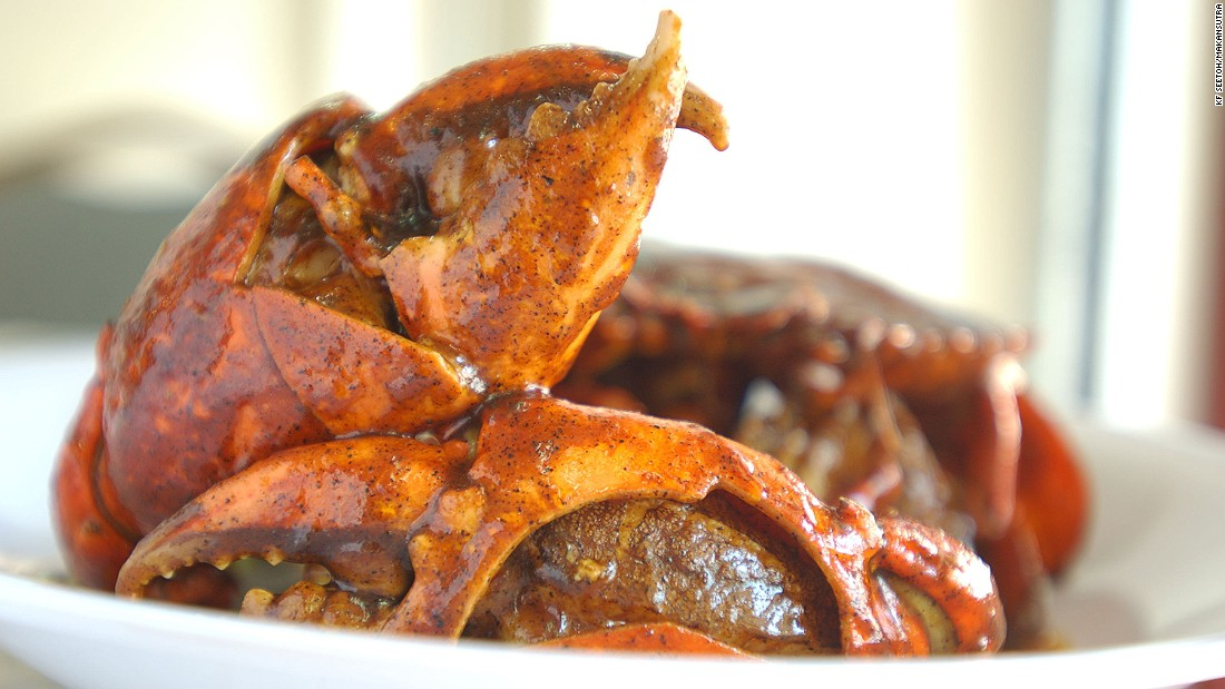 Chili crab is Singapore's de facto national seafood dish.