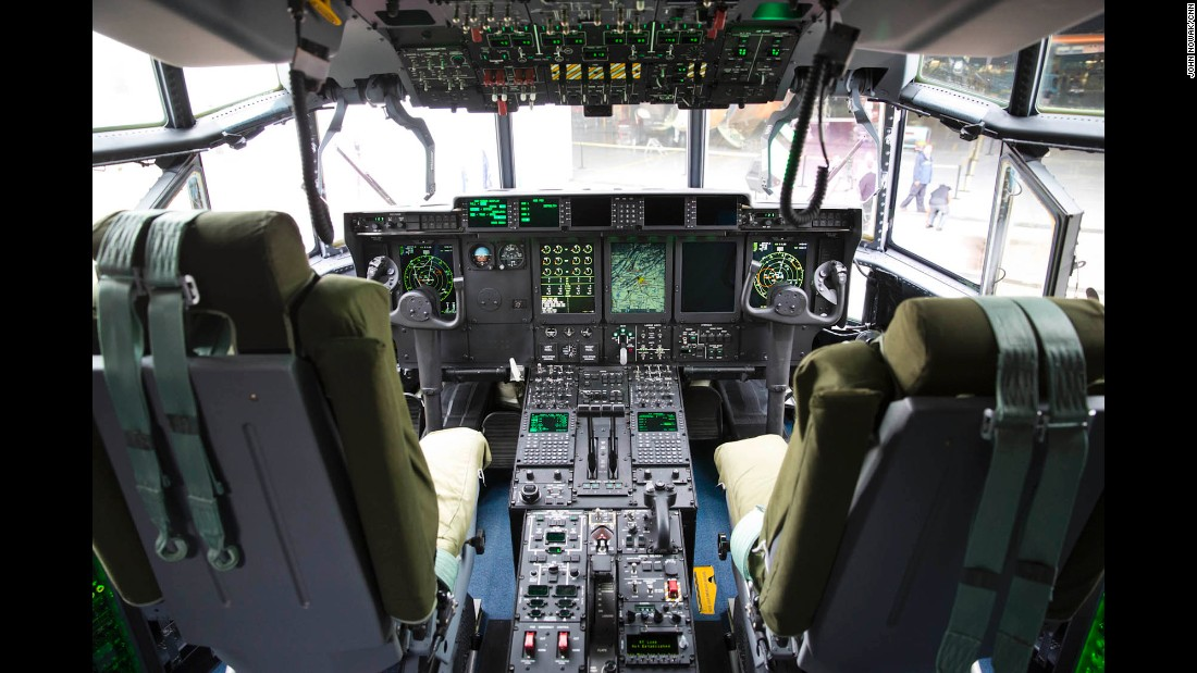 The new MC-130J cockpit includes updated digital displays offering pilots easy access to information about speed, altitude, location, weather and other key data.