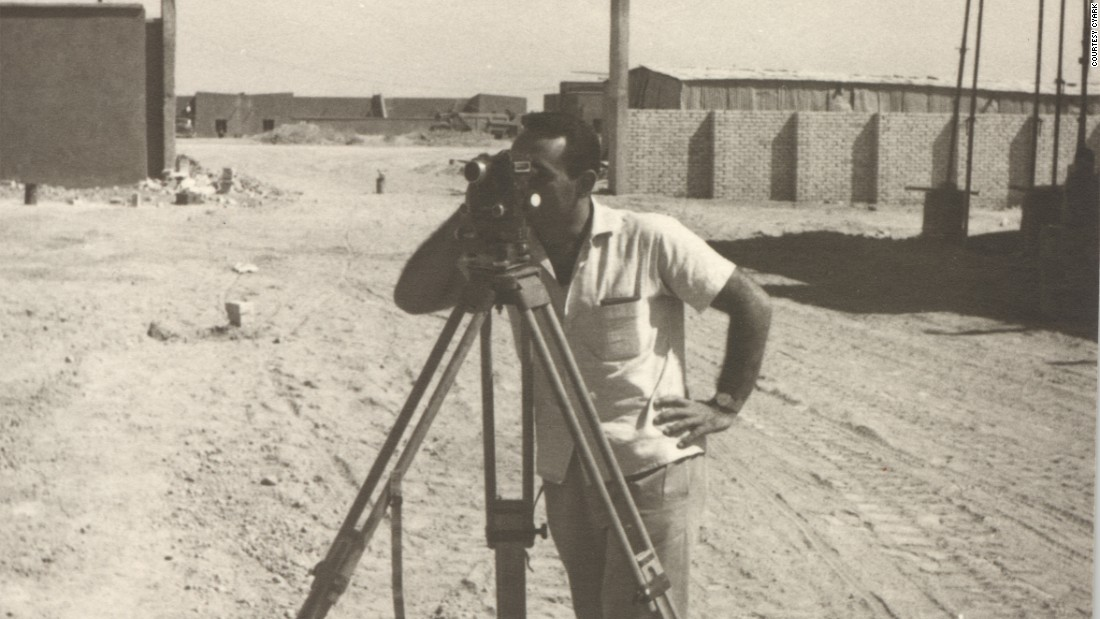 Ben Kacyra left Iraq for the United States in 1964. He is pictured here in his home country, working as a structural engineer.