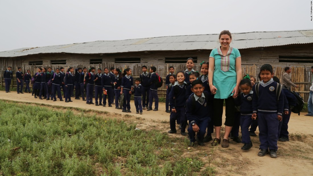 """In 2006, New Jersey native <a href=""""http://www.cnn.com/2015/04/09/living/cnnheroes-doyne/index.html"""" target=""""_blank"""">Maggie Doyne</a> used $5,000 she had earned for babysitting to purchase land in Surkhet, a district in western Nepal. She worked with the local community to build the Kopila Valley Children's Home, which today is home to nearly 50 children."""