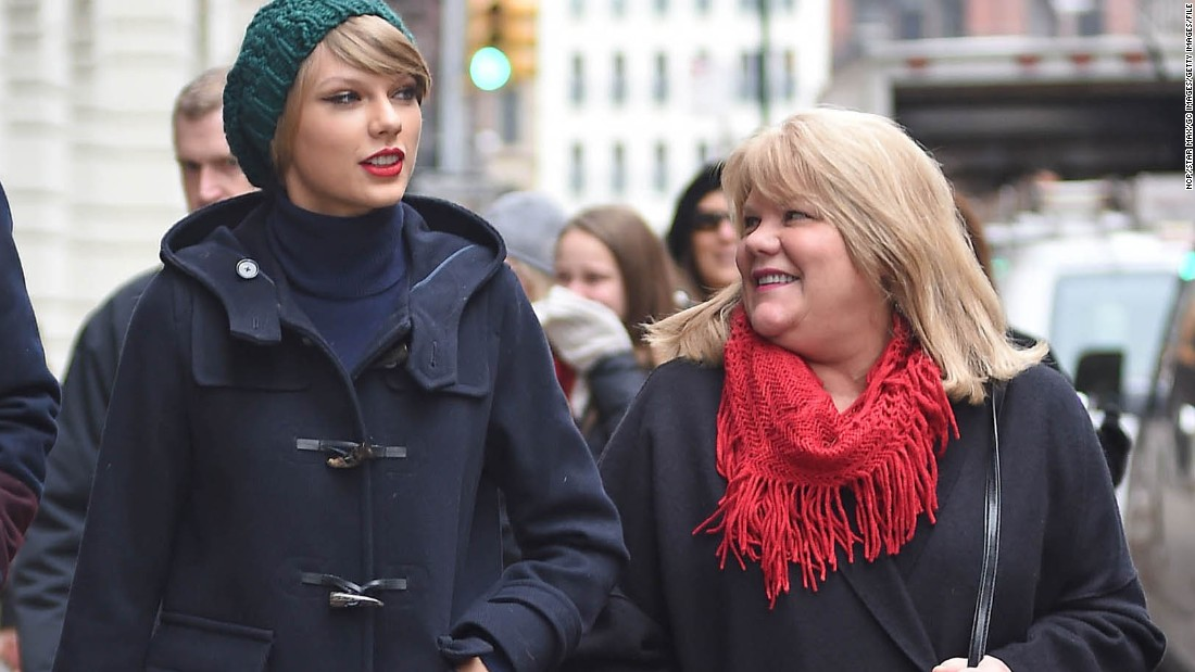 "In a blog post in April 2015, Swift said: ""The results came in, and I'm saddened to tell you that my mom has been diagnosed with cancer. I'd like to keep the details of her condition and treatment plans private, but she wanted you to know."" Here Swift and her mom, Andrea Swift, walk in New York City in 2014."