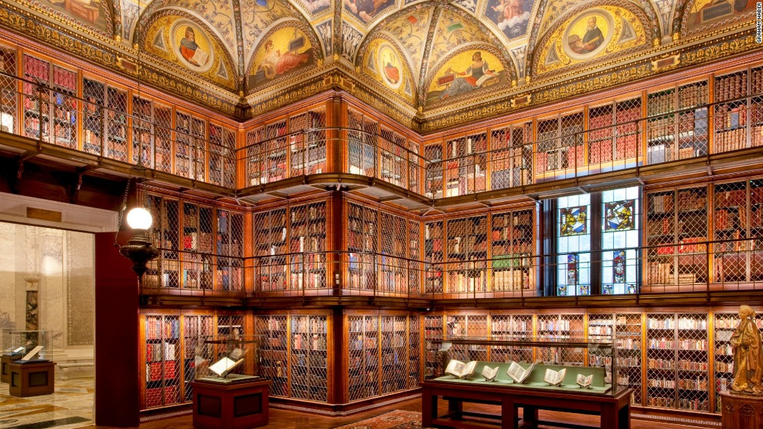 "Now the <a href=""http://www.themorgan.org/"" target=""_blank"">Morgan Library and Museum</a>, this was once the private library of financier Pierpont Morgan. Built between 1902 and 1906, the library features towering triple tiers of bookcases made of bronze and inlaid Circassian walnut. J.P. Morgan Jr. gave his father's library to the public in 1924. Admission is $18 for adults. <br />"