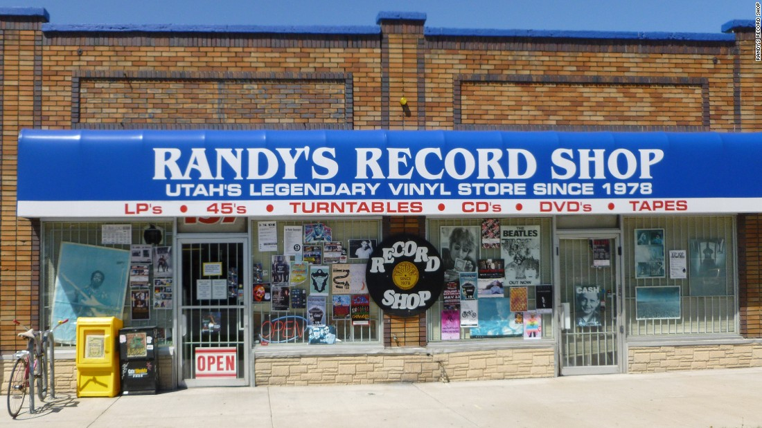 "<a href=""http://www.randysrecords.com/"" target=""_blank""><strong>Randy's Record Shop</a></strong> in Salt Lake City was founded not on LPs but on 45 rpm records. Owner Randy Stinson opened his store with a collection of 60,000 of them, and vinyl remains the bedrock of his inventory along with turntables and other audio gear. The store holds special sales on Record Store Day, when customers line up around the block."