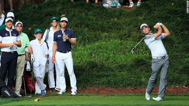 13-year-old caddies for par 3 winner at The Masters