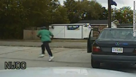 Authorities in South Carolina released on April 9, 2015, dash cam video in connection with the fatal shooting of Walter Scott, but the footage does not show the actual shooting. The video shows Slager's traffic stop, early interactions with Scott, before Scott exits his vehicle and runs away, out of range of the dash camera.