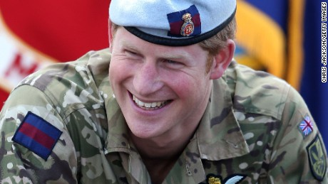 Prince Harry laughs as he attends the Opening Ceremony of the Warrior Games during a visit to the United States on May 11, 2013 in Colorado Springs, Colorado.