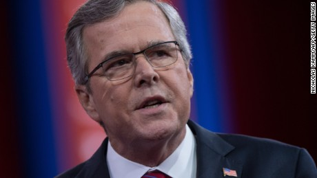 Former Florida governor Jeb Bush speaks at the annual Conservative Political Action Conference (CPAC) at National Harbor, Maryland, outside Washington,DC on February 27, 2015.