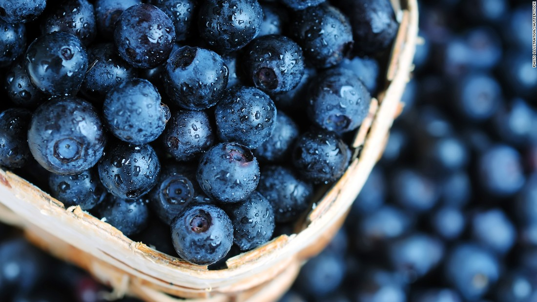 Blueberries contain antioxidants that improve your reaction to stress, so if you're feeling the pressure, grab some of these. Click through our gallery to see other foods that help reduce stress.