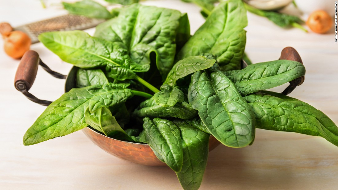 Spinach and other green leafy vegetables contain folate, which produces dopamine in your brain. This pleasure-inducing chemical helps you maintain your sense of calm.