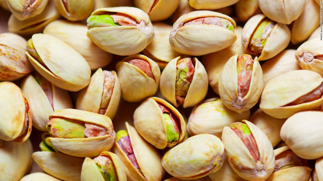 "Snacking is allowed on the MIND diet. It suggests eating nuts five times a week. Eating pistachios has been shown to lower blood pressure <a href=""http://www.ncbi.nlm.nih.gov/pubmed/25809855"" target=""_blank"">in some people</a>. Peanuts are known to be a good source of resveratrol, a compound with antioxidants that help brain and heart health, <a href=""http://www.ncbi.nlm.nih.gov/pubmed/24345046"" target=""_blank"">earlier studies show. </a>"