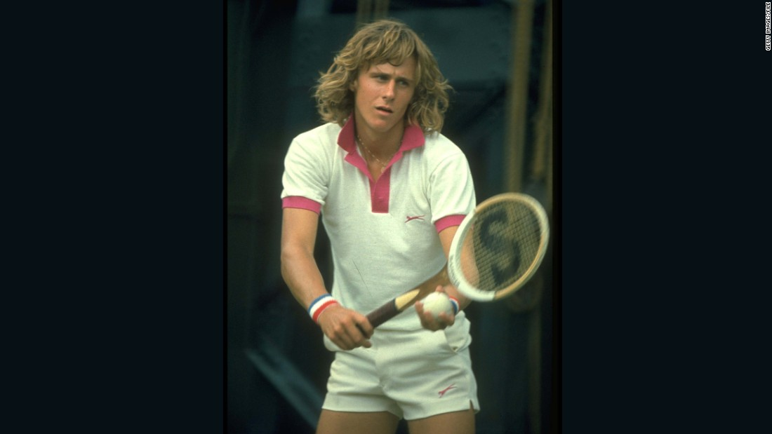 Swedish tennis great Bjorn Borg kept his hair long, and shorts short, in the mid-1970s.