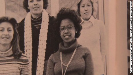 A photograph of Loretta Lynch from her high school yearbook.