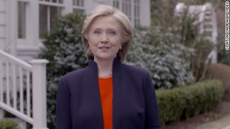 Hillary Clinton in her first 2016 Presidential campaign video.