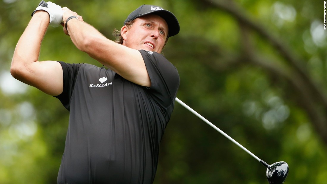 Veteran Phil Mickelson, seeking to win a fourth green jacket at Augusta, birdied his second hole but gave back a bogey at the fifth to be seven behind Spieth at the time.