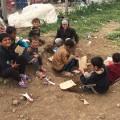 yazidi refugee camp cardboard toys