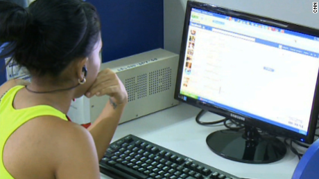 A Cuban citizen goes online in Havana