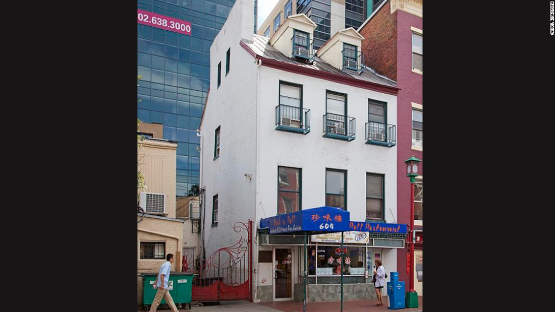 A 2010 photo shows what used to be Surratt's boarding house but is now a restaurant and karaoke bar.