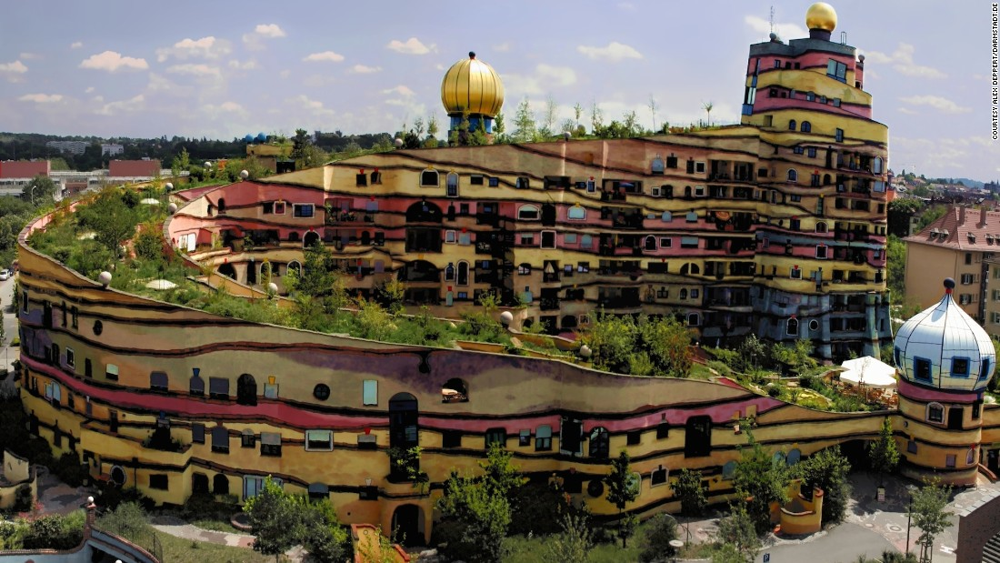 The apartment building and its roof terrace -- completed in 2000 -- were the final flourish in the career of one of Austria's most famous artists, Friedensreich Hundertwasser.