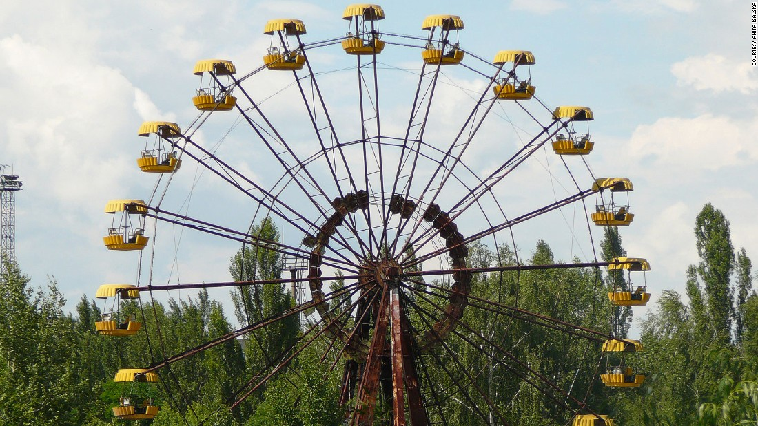 Pripyat's amusement park is its most photographed area. Barely used, its rusty funfair wheel has become a symbol of a once lively city silenced by disaster.<br />