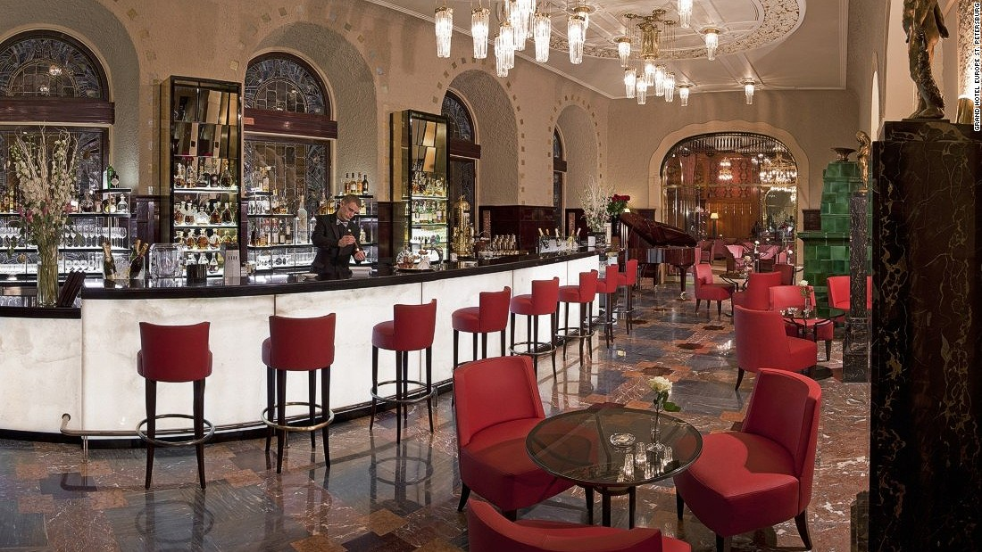 "The<a href=""http://www.belmond.com/grand-hotel-europe-st-petersburg/restaurants_caviar_bar"" target=""_blank""> </a>Caviar Bar is an institution in Russia: its caviar menu is epic, with a vodka selection to match, overseen by St. Petersburg's only vodka sommelier."