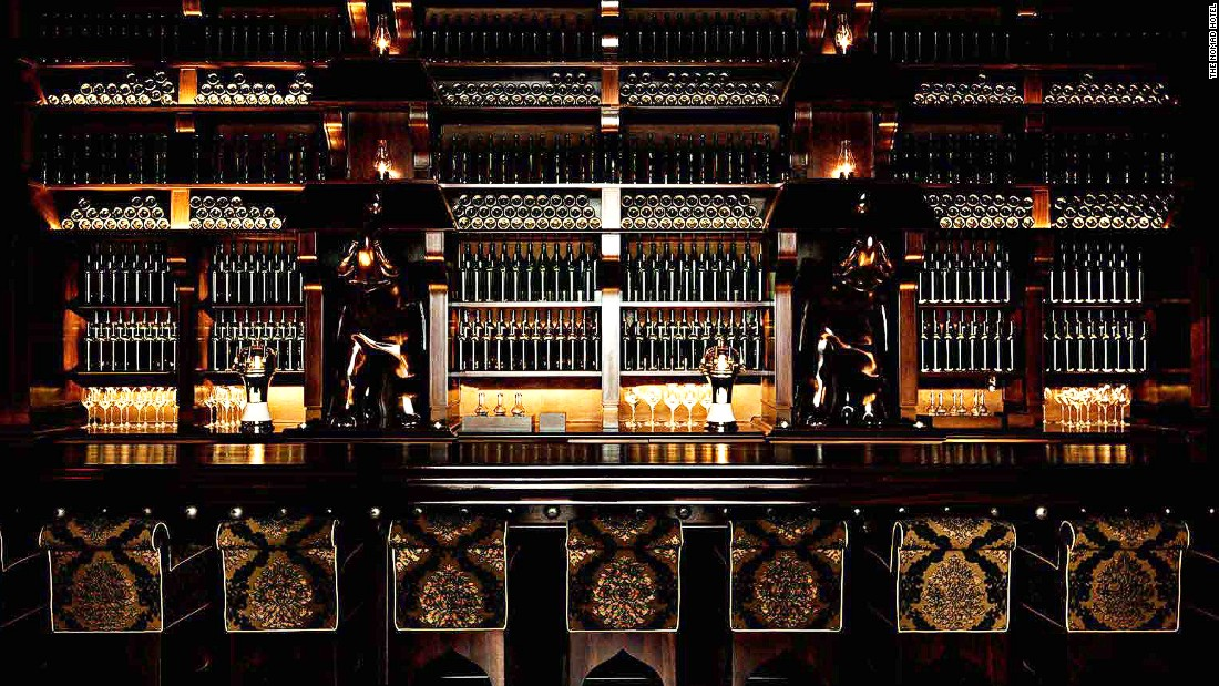 Decked out in dark mahogany and leather, with a speakeasy feel, the Elephant Bar is one of the most handsome bars in New York.