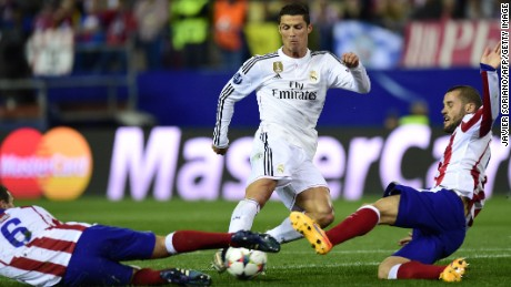 Cristiano Ronaldo could not add to his formidable goal tally in the first leg of the quarterfinal tie.