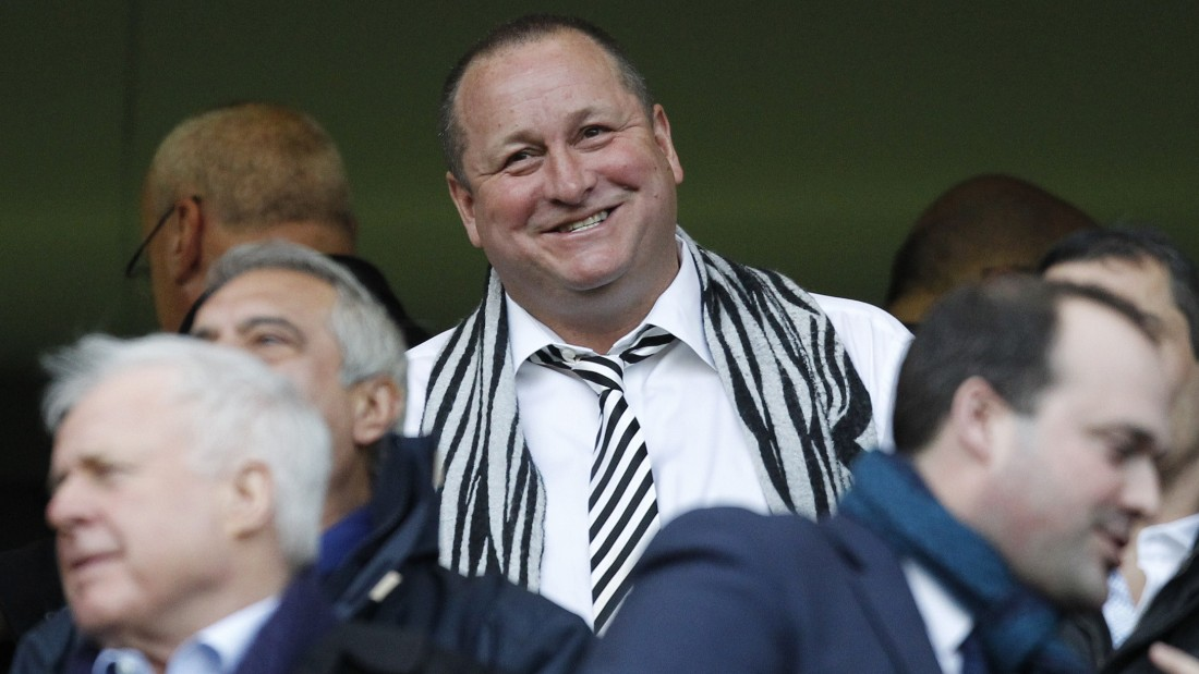 The fans' ire is largely directed at owner Mike Ashley, who they accuse of treating the club as an extension of his business empire. The retail tycoon is worth $4.6 billion, according to Forbes, and has turned Newcastle into a profitable club, but supporters say there is a poverty of ambition under his regime.