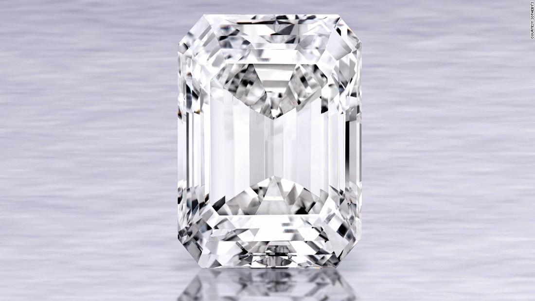 "In April 2015, a 100-carat, emerald cut, D color, internally flawless diamond -- the largest of its clarity and cut to ever be shown at auction -- <a href=""http://edition.cnn.com/2015/04/21/world/sothebys-flawless-diamond/"">sold for $22 million.</a>"