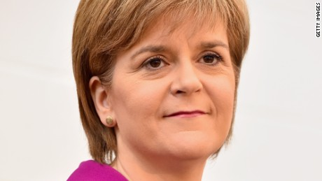 Scotland's First Minister Nicola Sturgeon on April 7, 2015 in Livingston, Scotland.