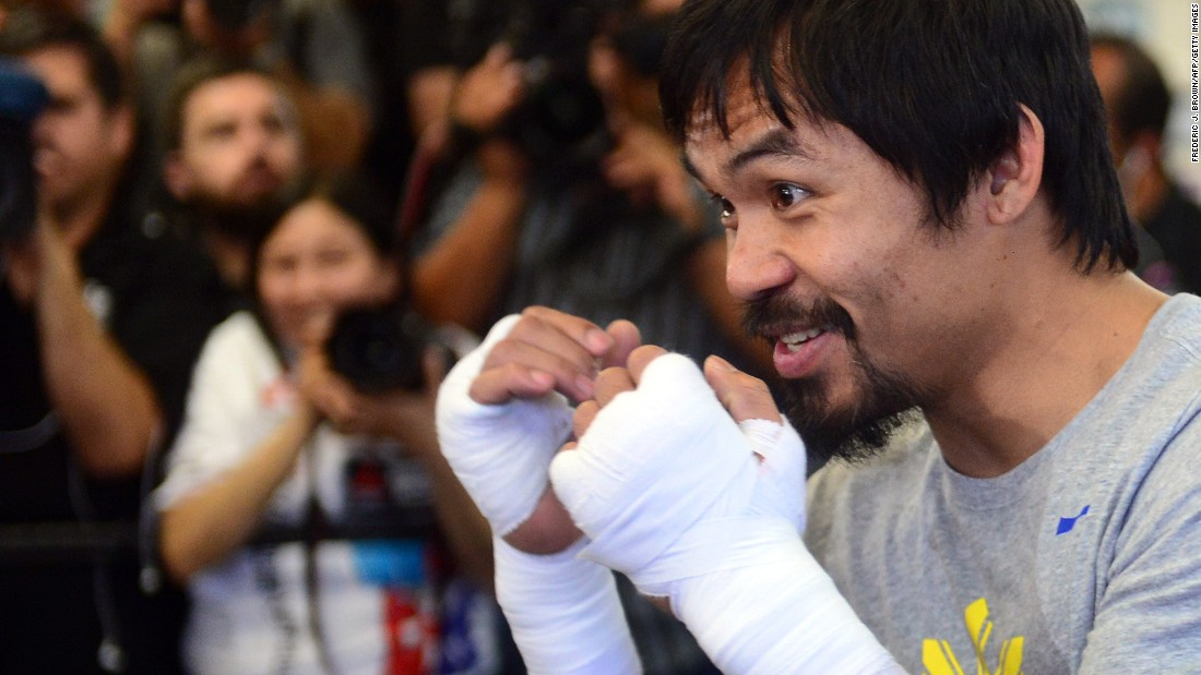 """My entire career defines my legacy. Everything I have done in boxing,"" Pacquiao said. ""I have had some great, great accomplishments and achievements in my career."" The bout is set for May 2 and is expected to fetch over $300 million."