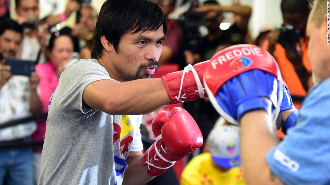 "The congressman and eight-division world champion said he had a message for Mayweather: ""After the fight, if I could talk to him, I want to share the gospel of God. I want to share to him about God, why we need God."" Pacquiao is a passionate Christian. He uses social media to thank God and share his musical compositions, while Mayweather's <a href=""http://edition.cnn.com/2015/03/11/sport/mayweather---pacquiao-2015/"">Instagram feed highlights his glamorous lifestyle.</a>"