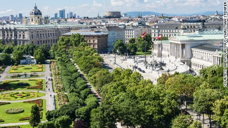 View of the Ringstrasse Parliament