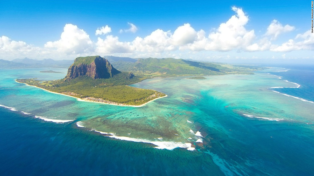 An island country in the Indian Ocean, Mauritius is about 500 miles (800 km) east of Madagascar. This year's No. 8 island on TripAdvisor's list is surrounded by coral reefs.
