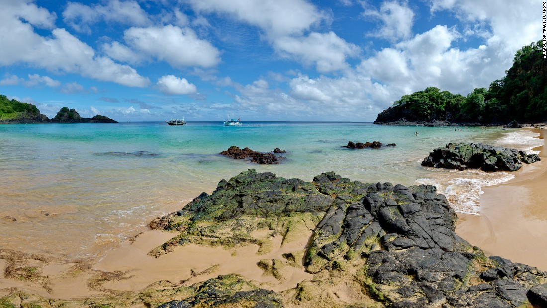No. 10 island Fernando de Noronha is about 220 miles off the coast of Brazil.