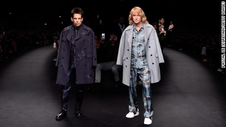 Derek Zoolander and Hansel walk the runway during Paris Fashion Week.