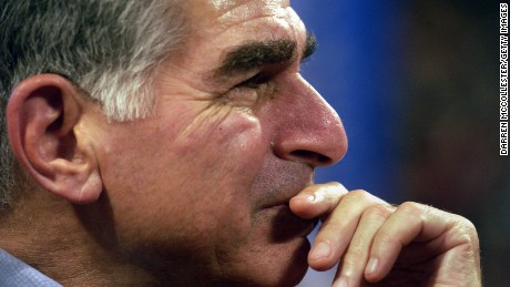 Former Massachusetts Governor and one time presidential candidate Michael Dukakis listens to speeches July 28, 2004 at the FleetCenter during the third day of the Democratic National Convention in Boston, Massachusetts. (Photo by Darren McCollester/Getty Images)