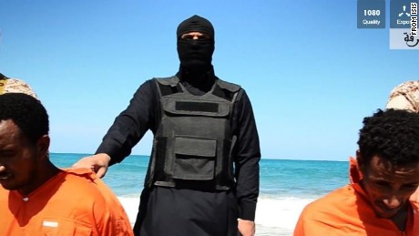 A video released by ISIS claims to show two groups of men being killed in Libya.