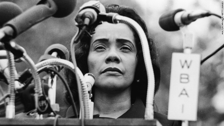 American civil rights campaigner, and widow of Dr. Martin Luther King Jr.,
